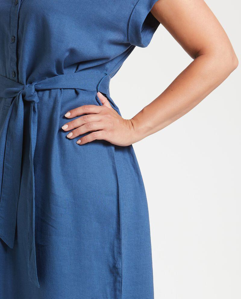 Vestito camicione in misto lino Curvy donna