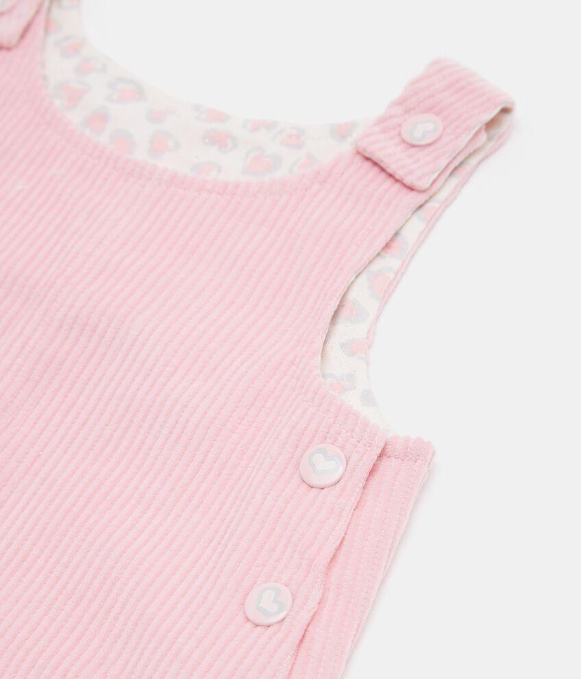 Salopette con righine neonata