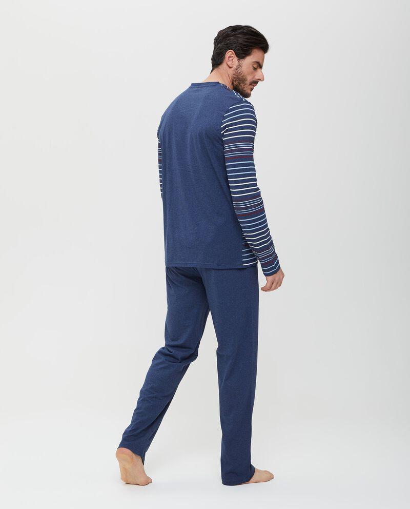 Top pigiama in puro cotone a righe uomo