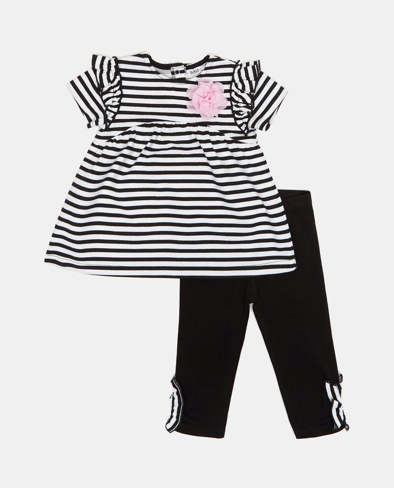 Set con vestito e leggings neonata