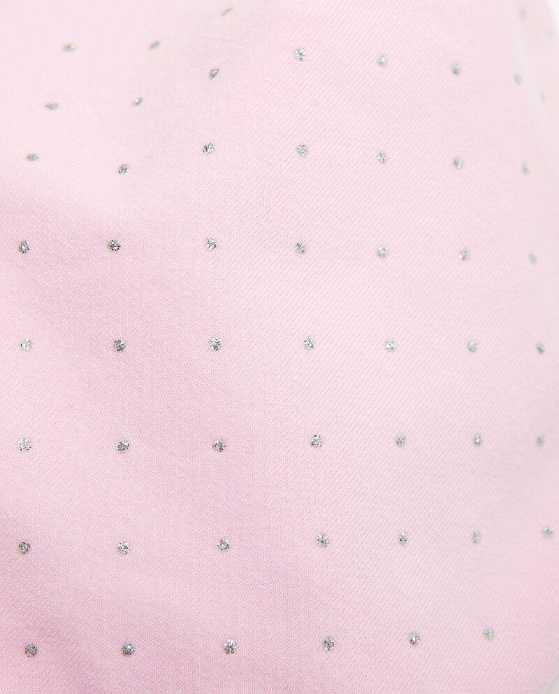 Berrettino in cotone elasticizzato a pois neonata