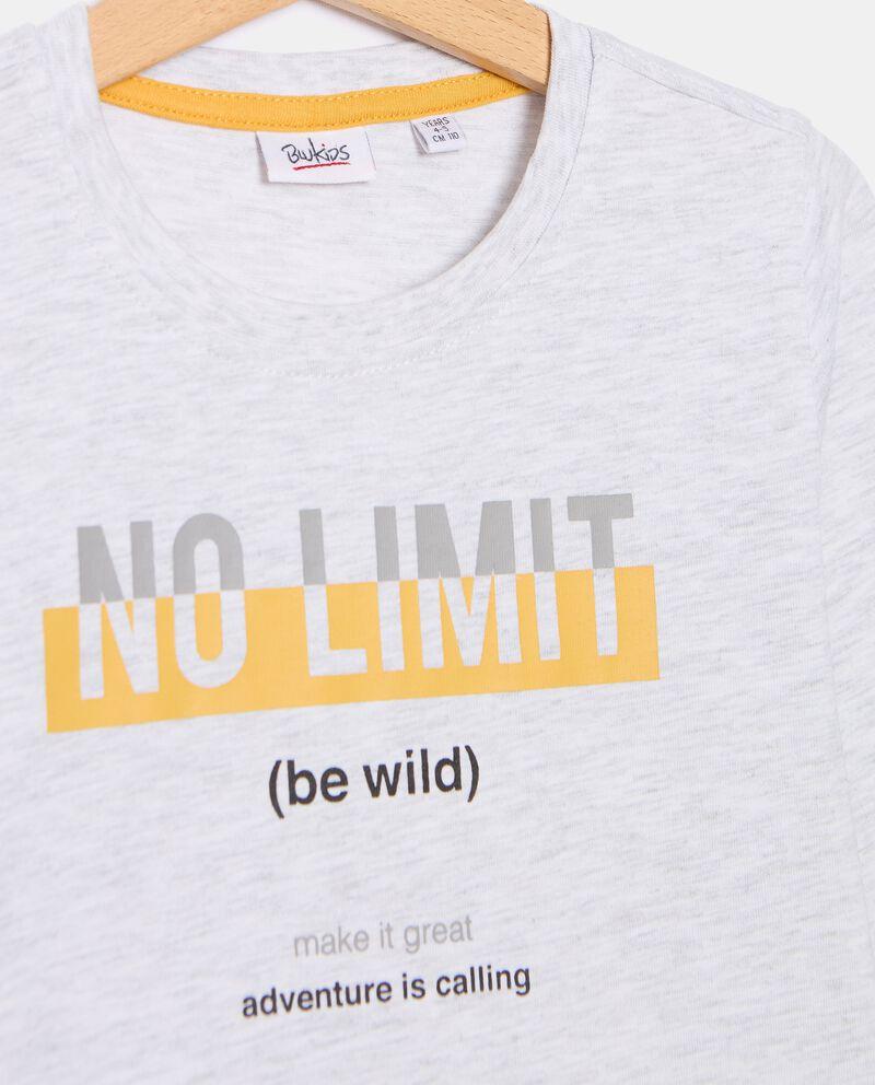 T-shirt con stampa in cotone organico bambino single tile 1