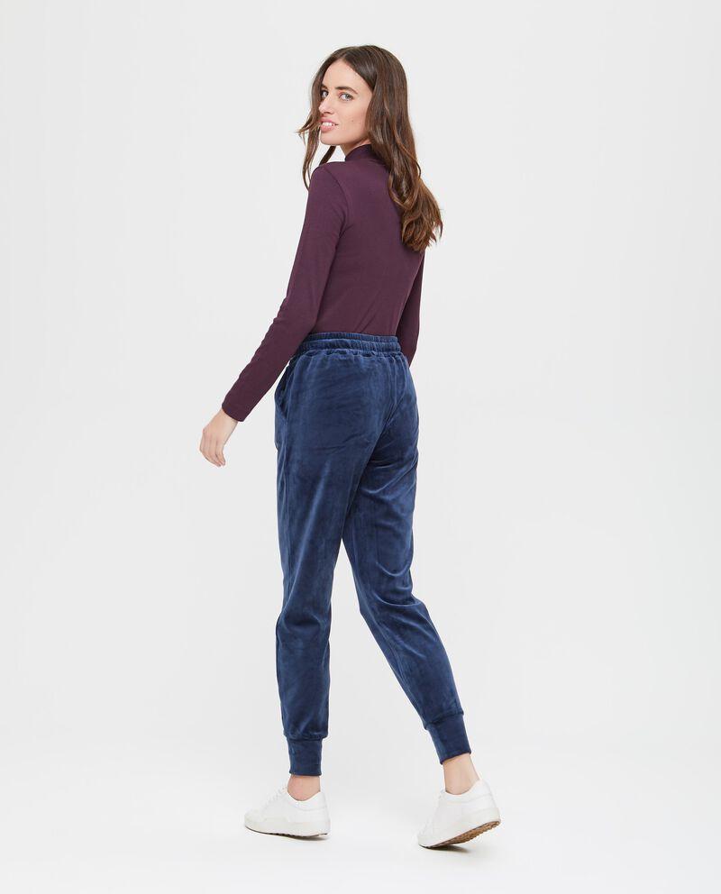 Pantaloni sportivi stretch tinta unita