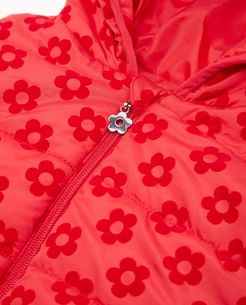 Piumino smanicato con fiori neonata