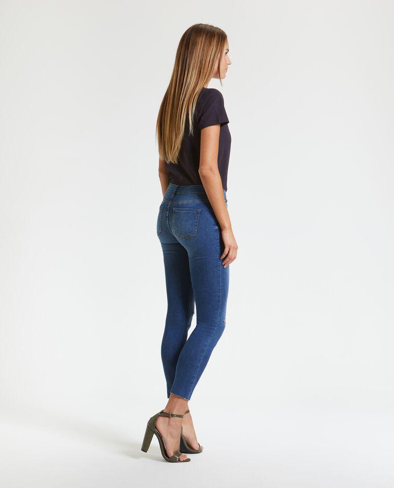 Jeans skinny con strappi donna