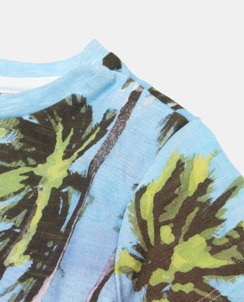 T-shirt in cotone organico con stampa a pannello neonato single tile 1