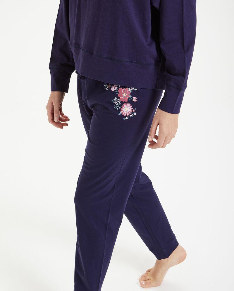 Pantaloni del pigiama stampati in puro cotone