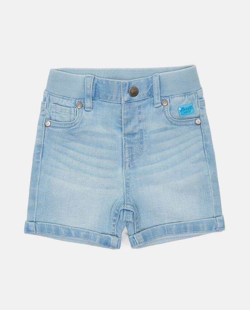Shorts denim con vita elasticizzata neonato cover