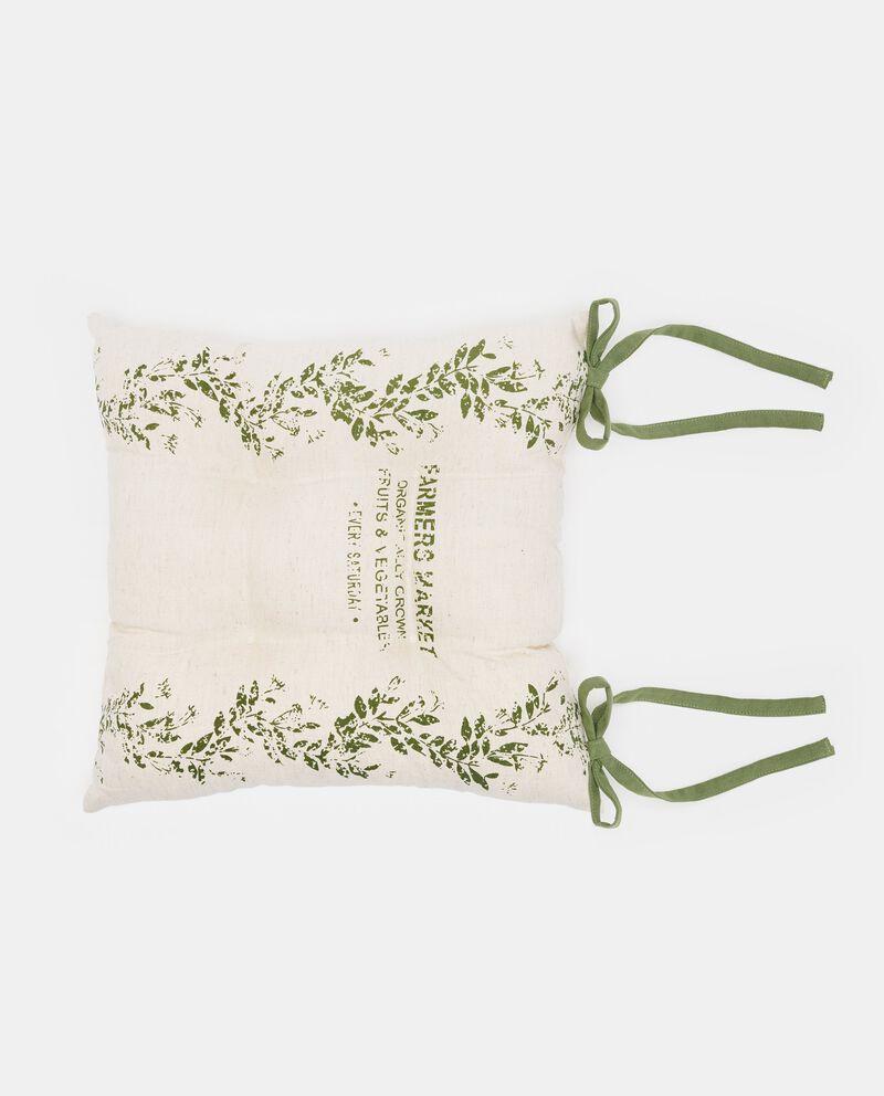 Cuscino con stampa floreale e lettering