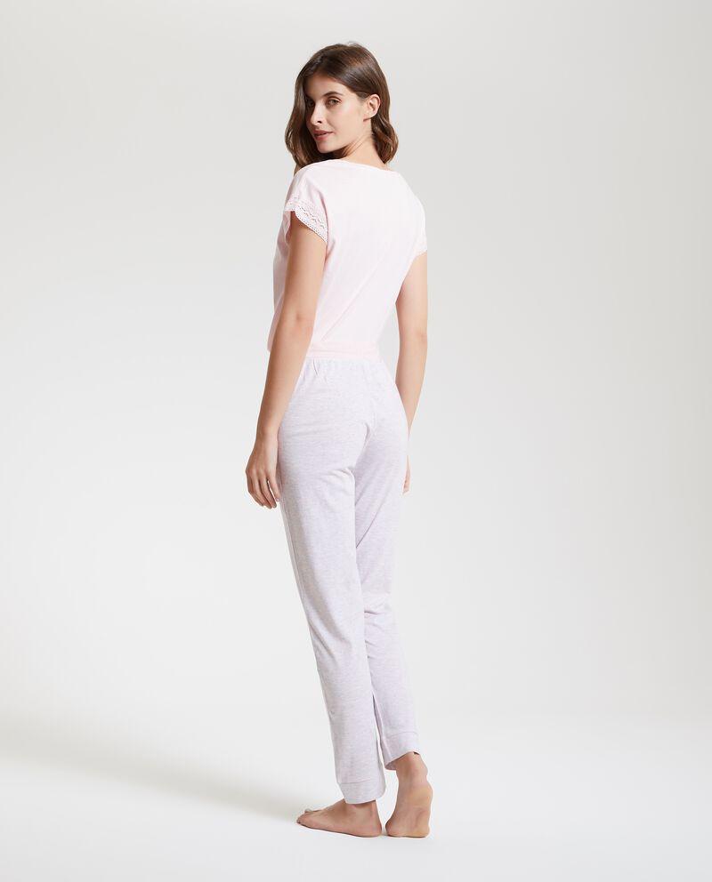 Pantaloni pigiama a righe donna