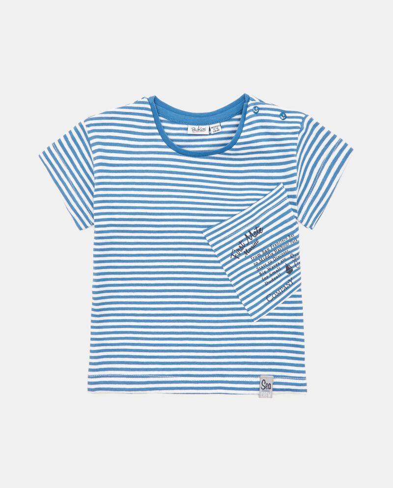 T-shirt a righe in puro cotone
