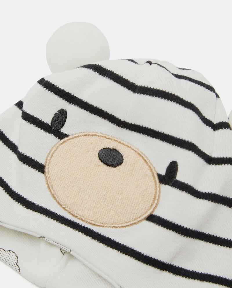 Cappellino in puro cotone a righe