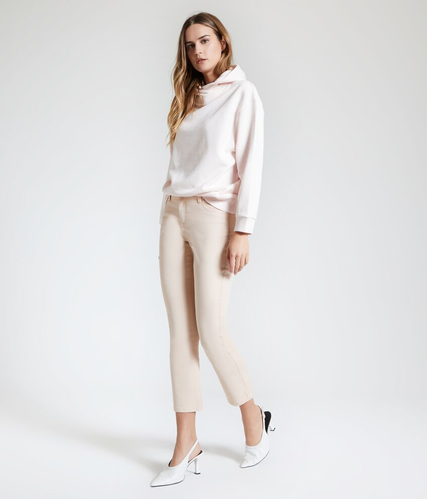 Pantaloni tinta unita cropped donna