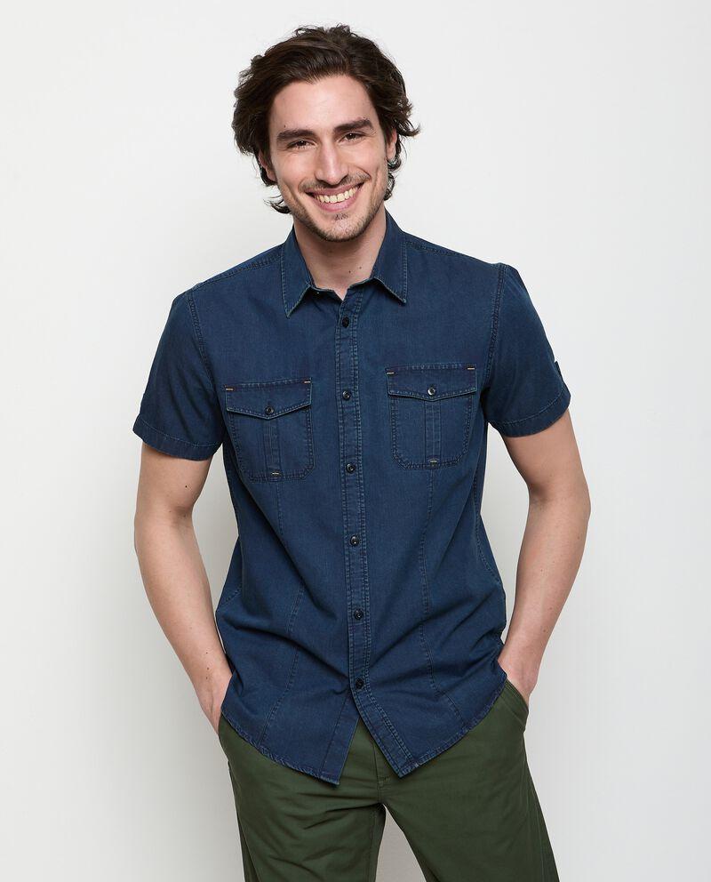 Camicia denim in puro cotone uomo cover