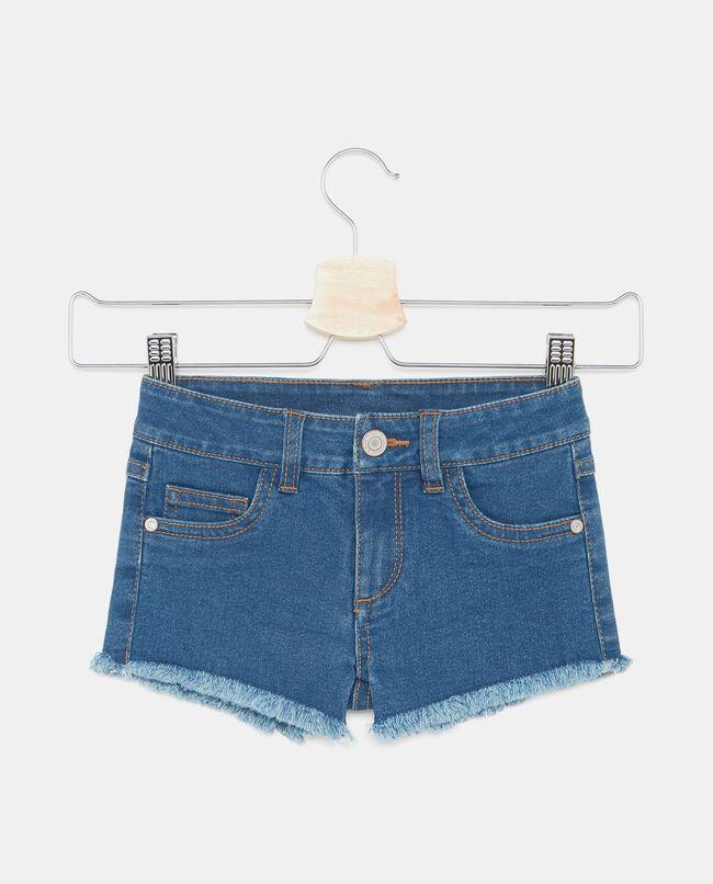 Shorts cinque tasche sfrangiati bambina