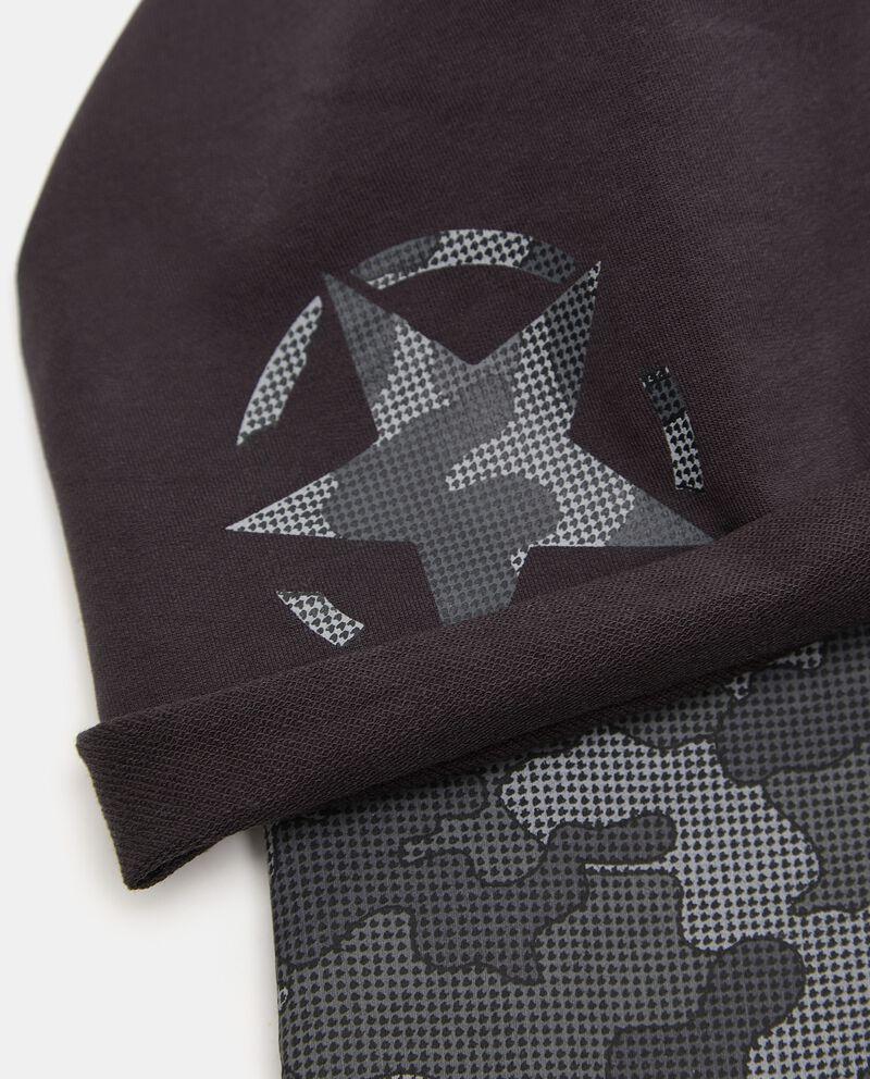Set berretto e scaldacollo in felpa elasticizzata single tile 1