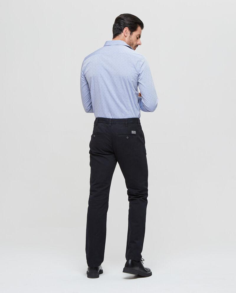 Pantaloni chino puro cotone tinta unita