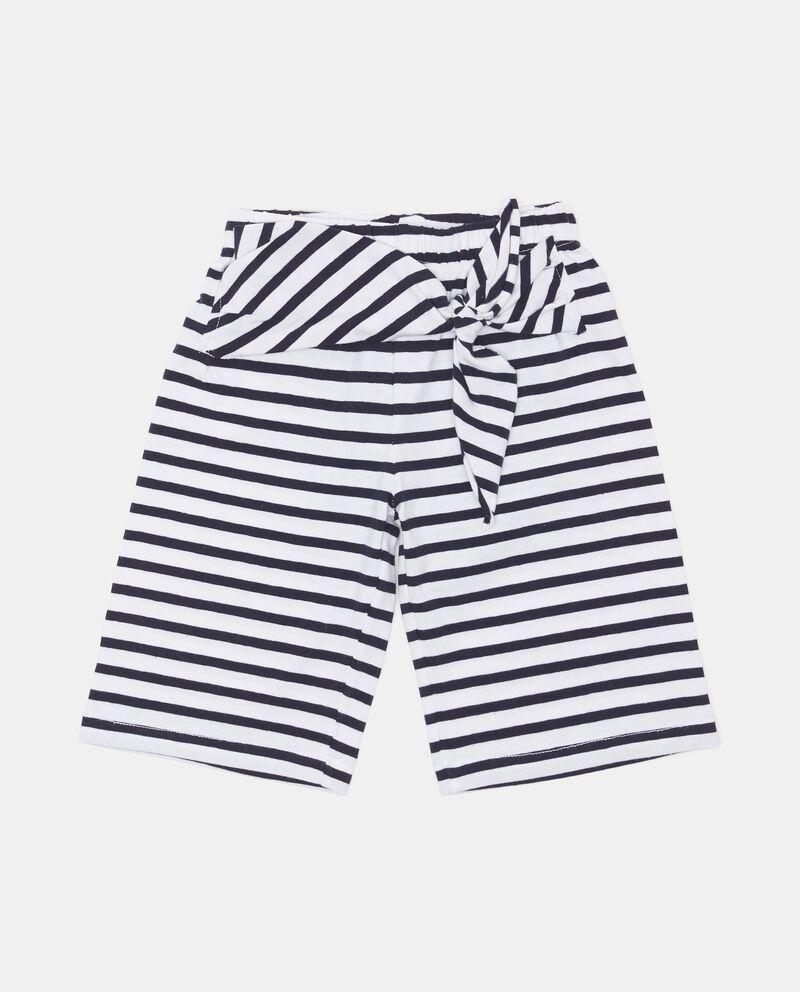 Pantaloni cotone stretch a righe