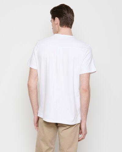 T-shirt tinta unita in puro cotone uomo