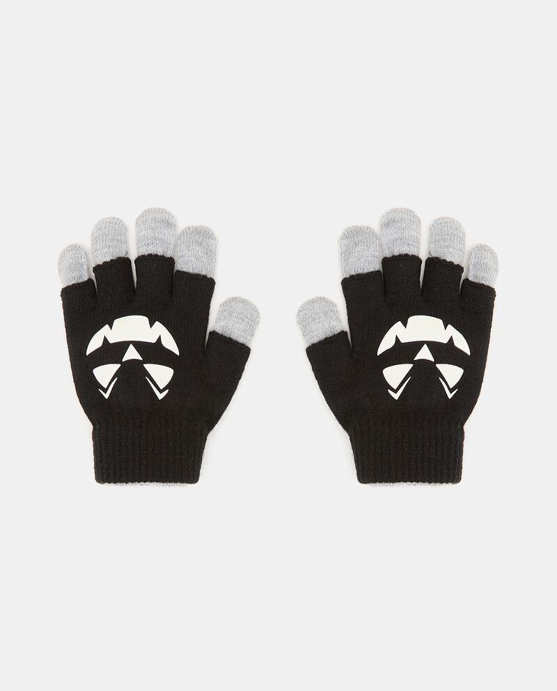 Doppi guanti in maglia con stampa fluorescente cover