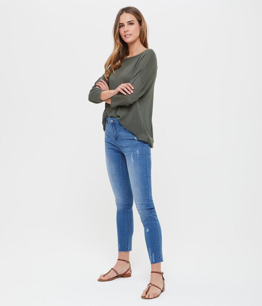 Jeans cinque tasche effetto vintage donna