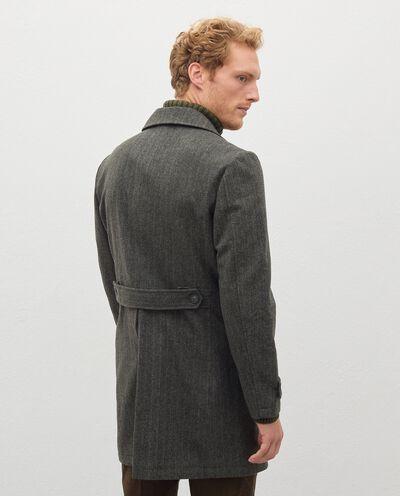 Cappotto spinato con rever uomo detail 1