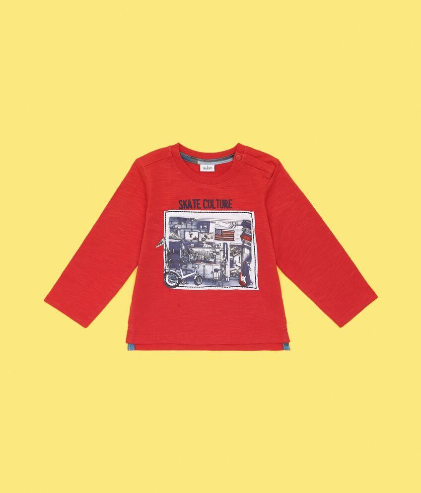 T-shirt puro cotone effetto mélange neonato