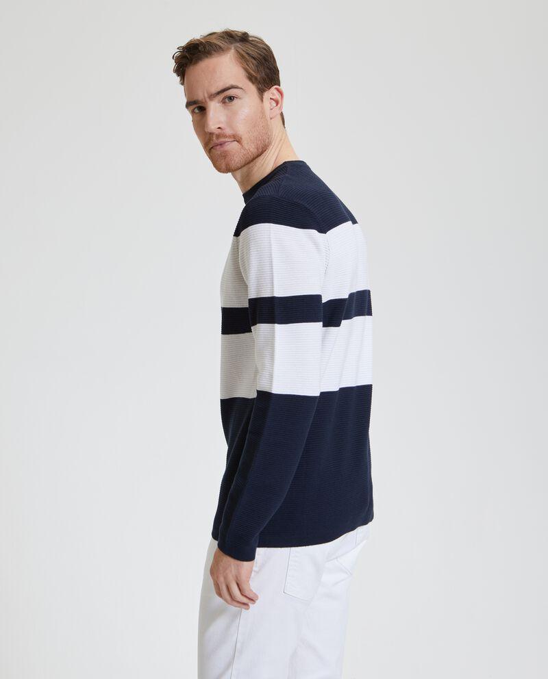 Maglione con bande a contrasto uomo