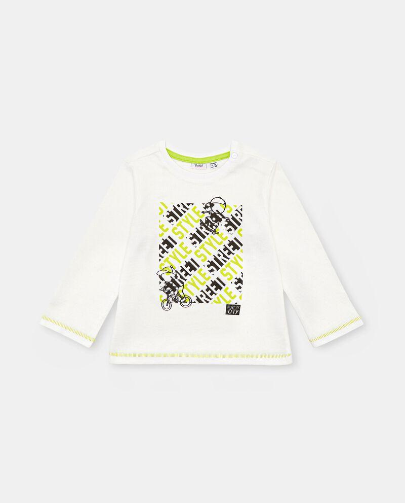 T-shirt con stampa in rilievo di cotone neonato cover