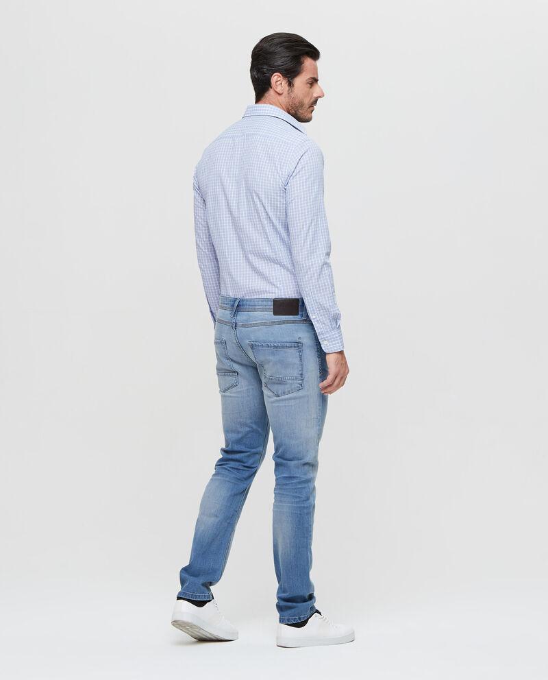 Jeans stretch delavato cinque tasche