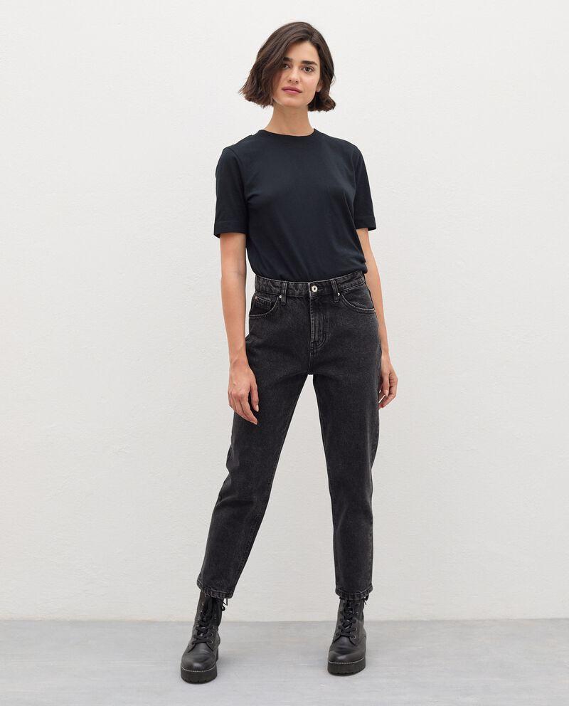 Jeans fit mom in puro cotone donna cover