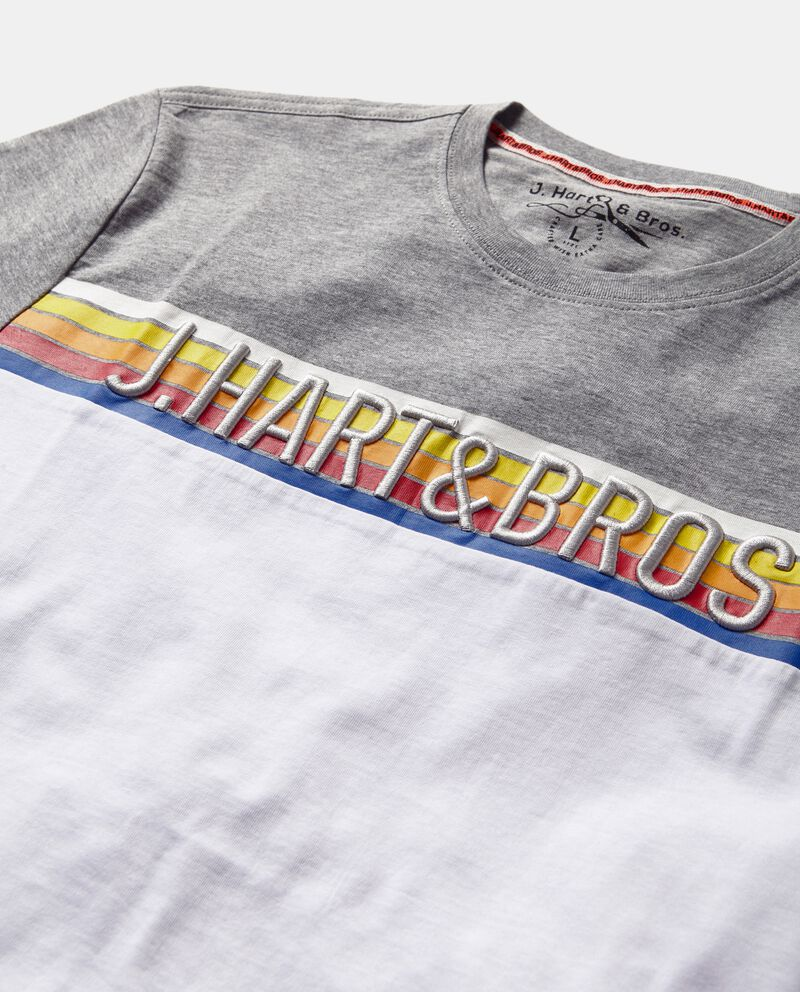 T-shirt con doppio colore e lettering uomo single tile 1