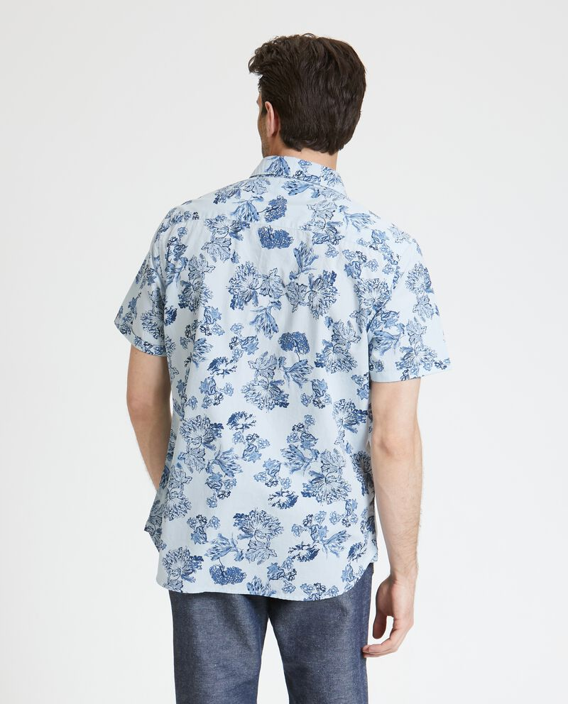 Camicia in puro cotone con fantasia floreale uomo