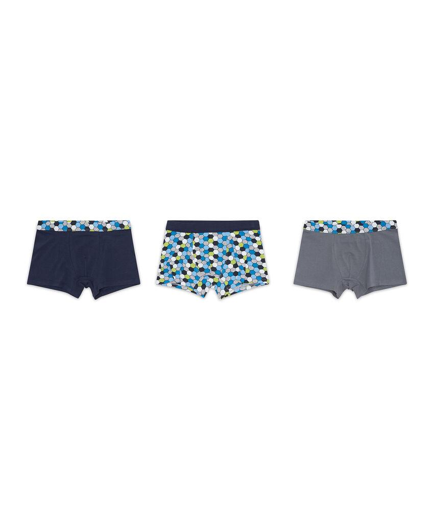 Set tre boxer stretch geometrica