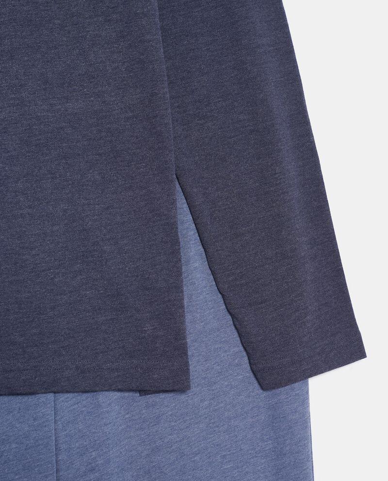 Pigiama in puro cotone con maglia e pantaloni uomo single tile 1