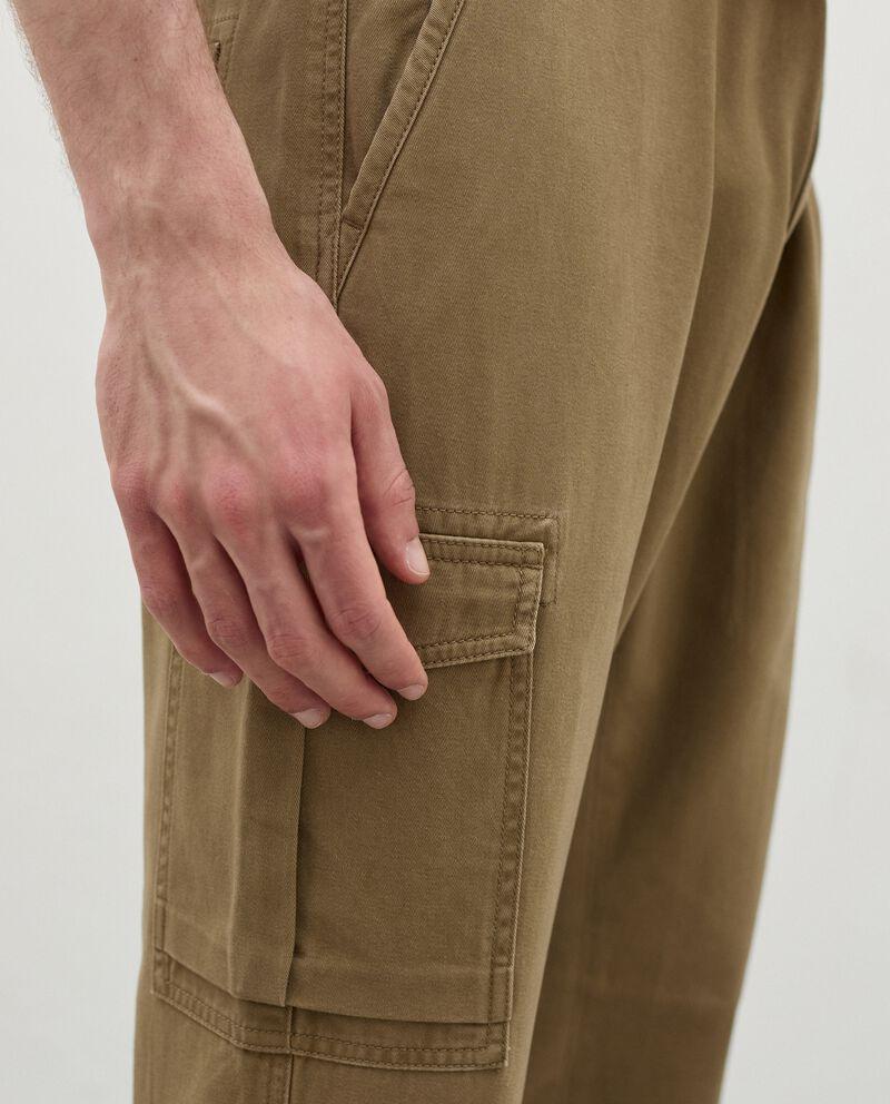 Pantaloni cargo in puro cotone uomo single tile 2