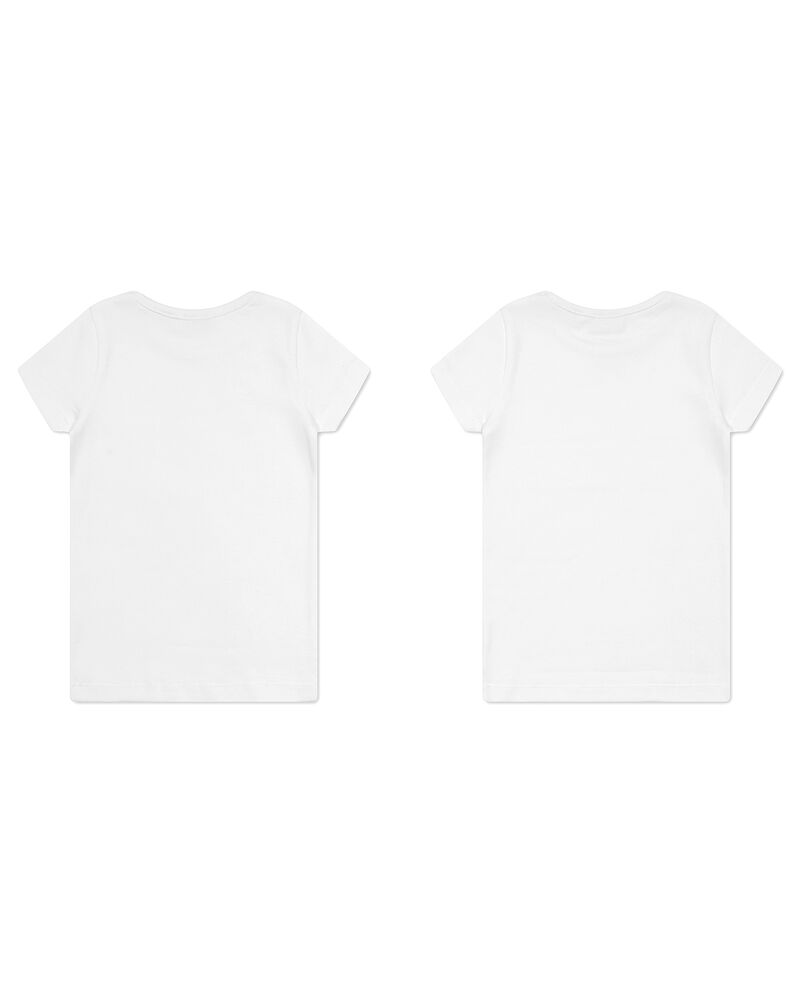 Set due t-shirt intime con fiocchetto