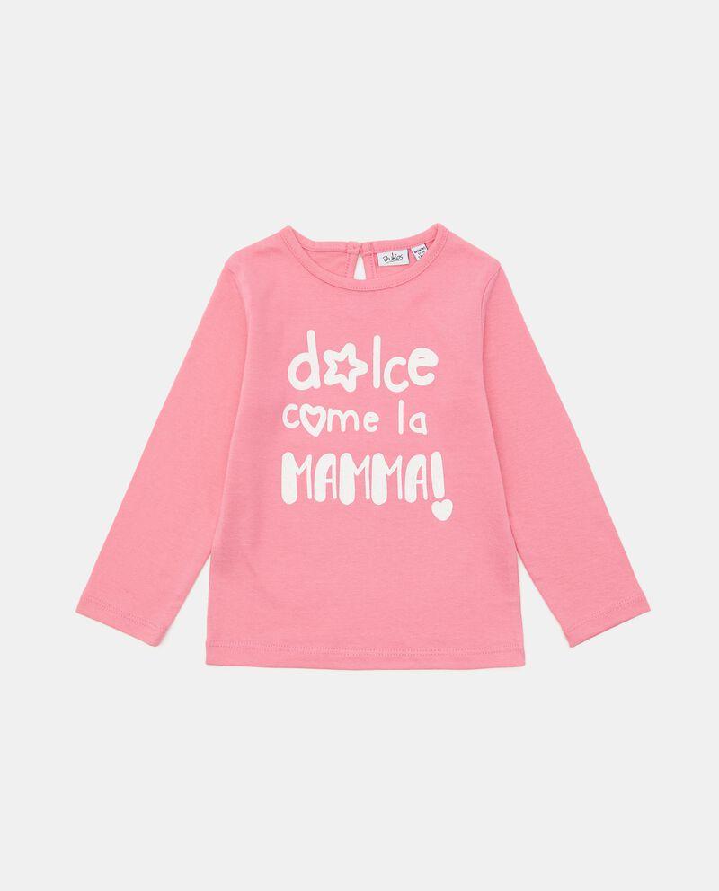 T-shirt in cotone stampata con lettering neonata cover