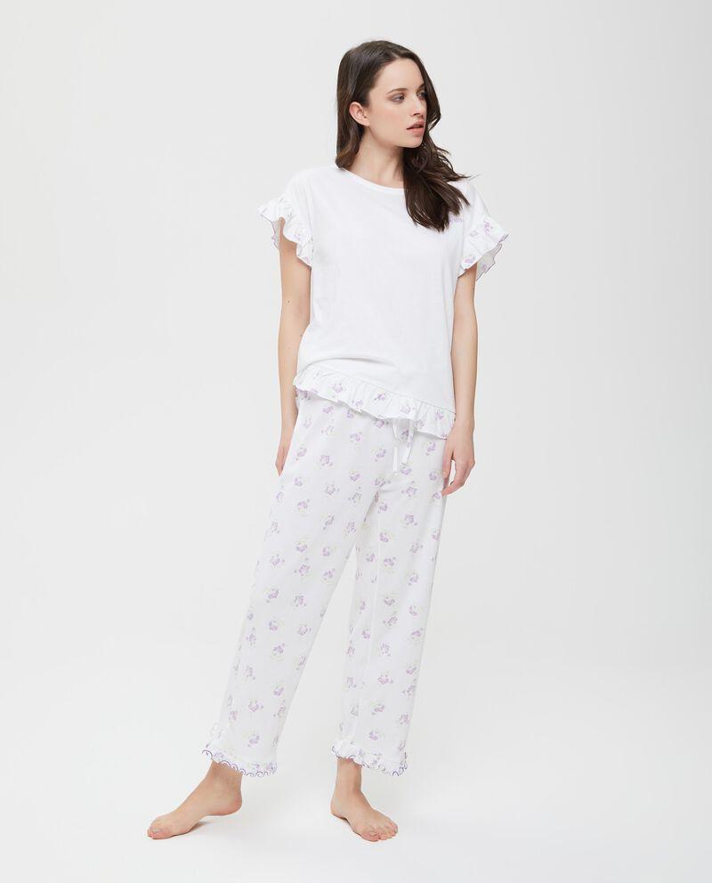 Pantaloni pigiama coulisse floreale