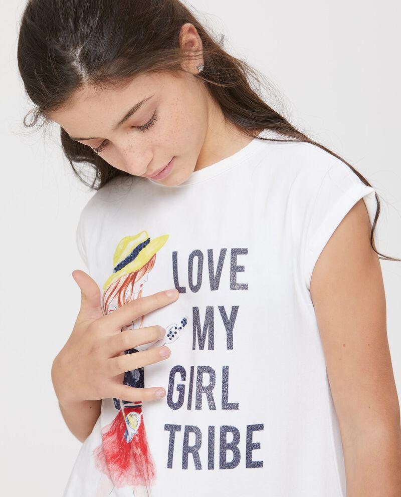 T-shirt a manica corta con scollo rotondo