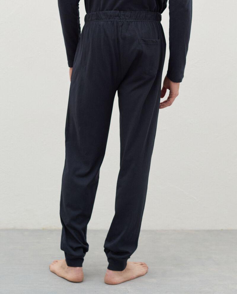 Pantaloni del pigiama di puro cotone uomo single tile 1