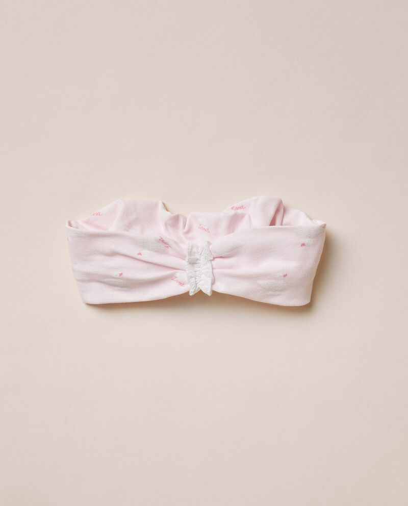 Fascia elastica per capelli in cotone organico jersey stretch MADE IN ITALY cover