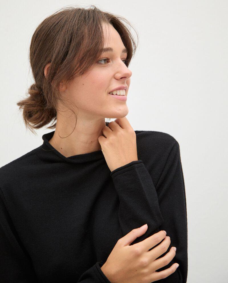 Maglia in lana con collo medio-alto donna single tile 2