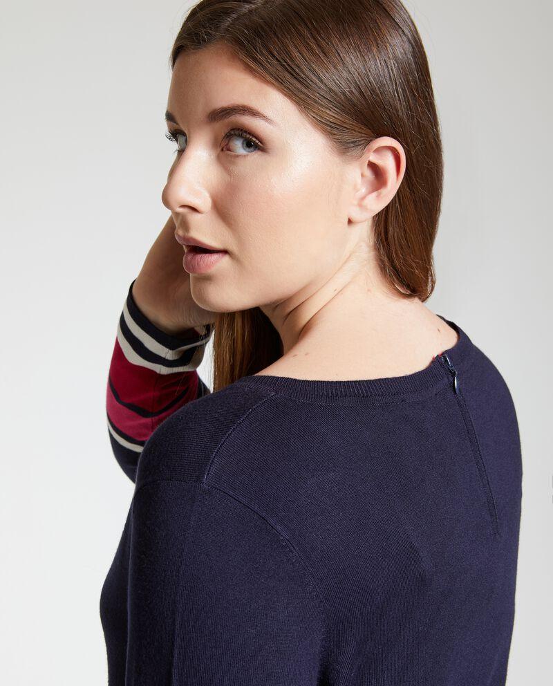 Pullover donna scollo rotondo
