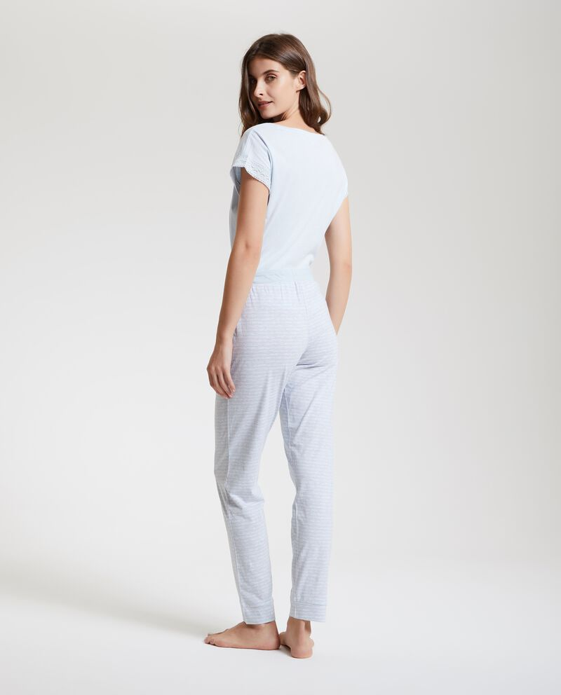 Pantaloni pigiama con motivo a righe donna
