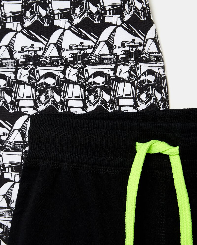 Set t-shirt Star Wars e shorts in tinta unita bambino