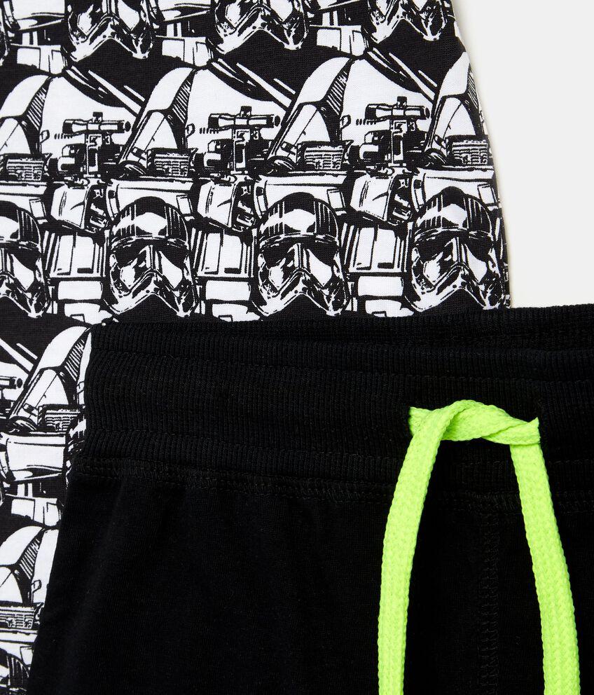 Set t-shirt Star Wars e shorts in tinta unita bambino