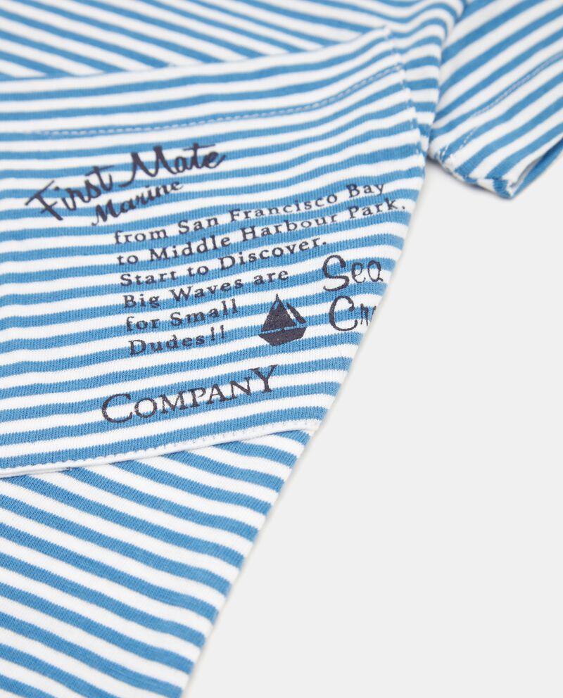 T-shirt a righe in puro cotone single tile 1