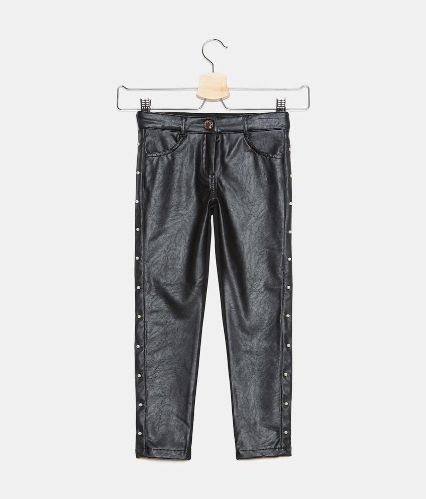 Pantaloni in ecopelle bambina