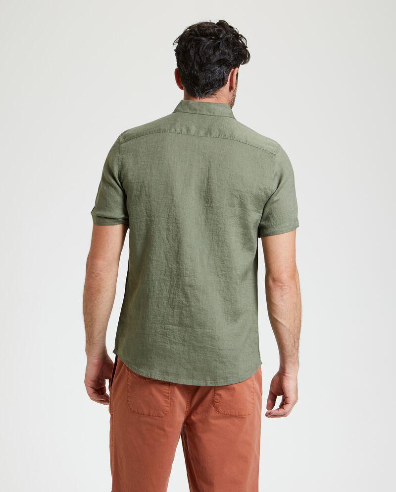 Camicia in puro lino tinta unita uomo